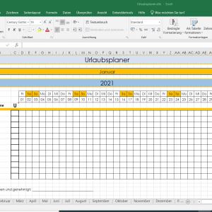 Urlaubsplaner Excel Vorlage