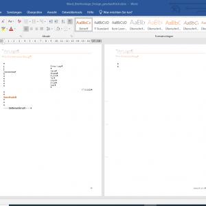 Word Briefvorlage Design geschäftlich nach DIN 5008
